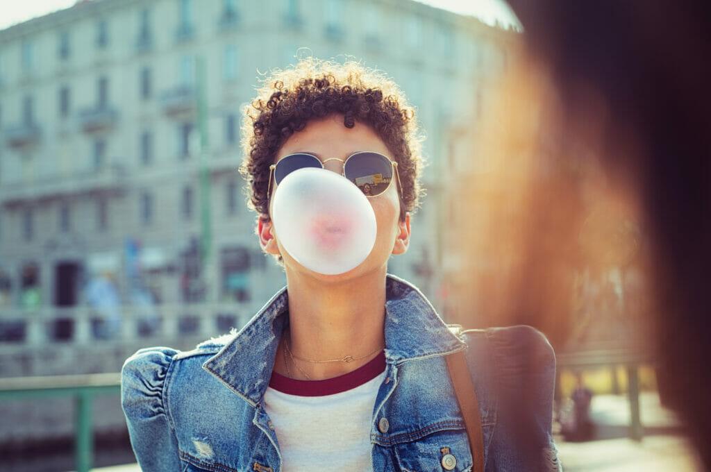 dental care and probiotic gum